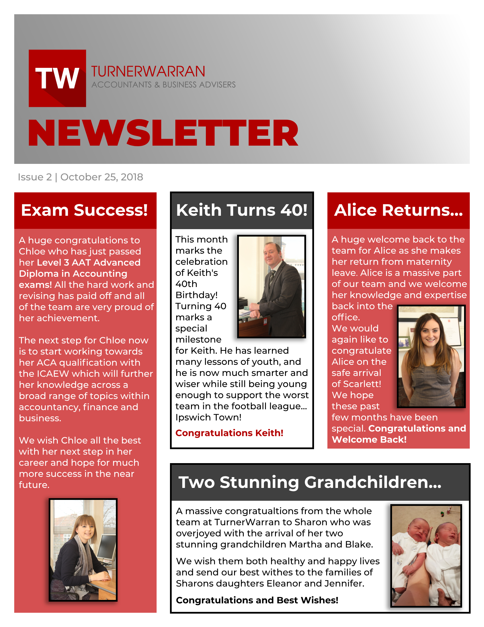 TurnerWarran-Newsletter-October-2018 Online Newsletter Design Templates on classroom weekly, fun company, free office, microsoft publisher, free printable monthly, microsoft word,