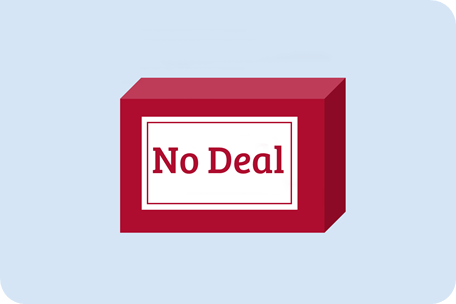 """""""No Deal"""" Displayed on a box for VAT"""
